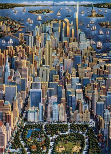 DOWDLE FOLK ART COLLECTORS JIGSAW PUZZLE NEW YORK 1000 PCS #10093
