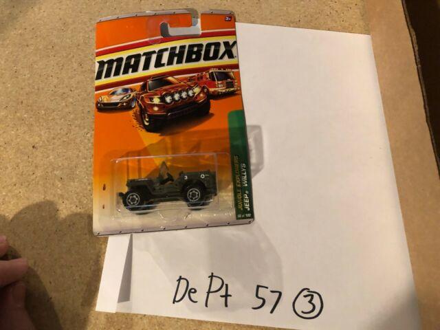 2010 MATCHBOX JUNGLE EXPLORERS JEEP WILLYS 96//100 TWO CAR SET