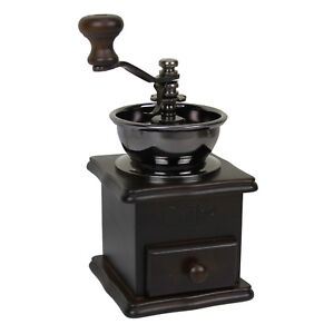 Evelyne-Wood-Vintage-Antique-Coffee-Bean-Mill-Windmill-Hand-Crank-Manual-Grinder