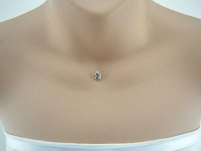 Floating imitation Diamond Illusion Necklace made with Swarovski Crystal 43SW