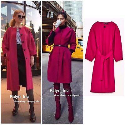 Nwt199 Coat 2771744Ebay Sleeves 75Wool Zara Fuchsia 2017 Jacket With Full 6vb7yIgYf