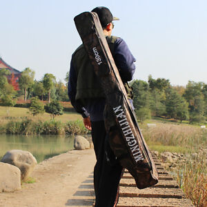 Fishing Rod Bag Waterproof Folding Fishing Case Pole Storage Fishing Tackle Bag