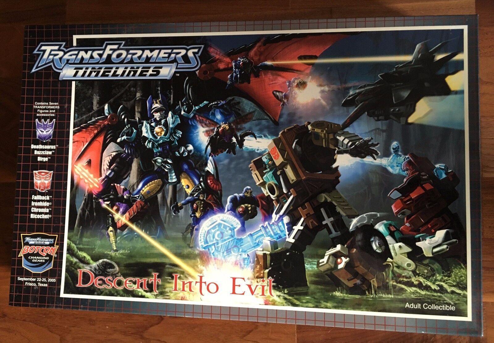 Transformers Botcon 2005 Descent Into Evil Boxset