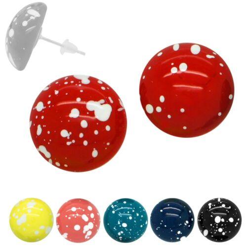 Los puntos pendientes chicas pendientes button rockabilly azul rojo amarillo turquesa