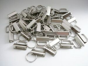 48-Stk-Schluesselband-Rohlinge-mit-Schluesselringen-30-mm-Klemmschliessenanhaenger