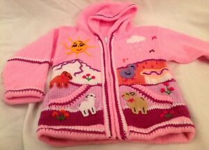 62793368b5d0d Image is loading Hand-knitted-Alpaca-Wool-Children-Sweaters-with-3D-