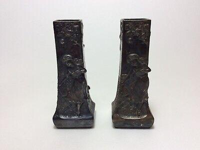 2 Jugendstil Art Nouveau Vasen Paar Metall Kaminvasen 12 Cm Britanniametall ? MöChten Sie Einheimische Chinesische Produkte Kaufen?