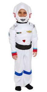 New Boys Girls Astronaut Costume Space Man NASA Kids Fancy Dress Outfit Book Day