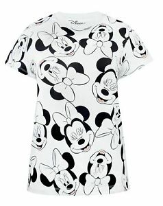 Disney-Minnie-Mouse-Character-All-Over-Print-Women-039-s-Boyfriend-Fit-T-shirt