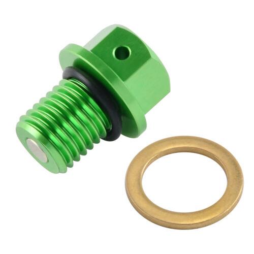 CNC Magnetic Oil Drain Bolt Plug For Kawasaki ZX-6 ZX-7 ZX-10 ZX-14 R RR ZX-9R