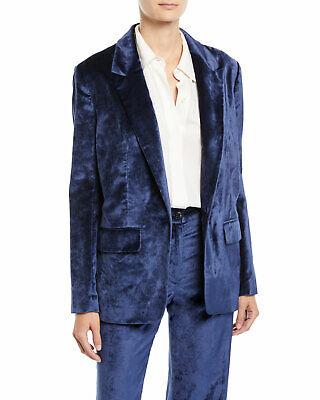 NEW RAG /& BONE MONTY OVERSIZED VELVET DENIM BLUE BLAZER JACKET WOMEN/'S 6 $650