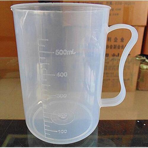 100//250//500ML Plastic Measure Cup Jug Pour Spout Surface Cook Kitchen Laboratory