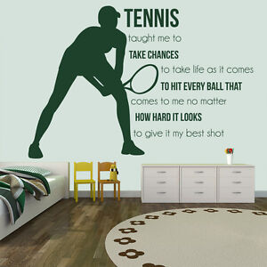 Image Is Loading Take Chances Wall Sticker Tennis Quote Wall Decal