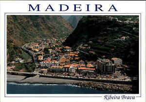 Portugal-Bilhete-Postal-MADEIRA-Ribeira-Brava-Aerial-View-Luftaufnahme-Luftbild