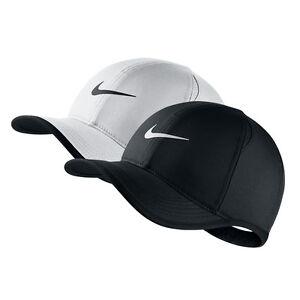 NWT NIKE Women s Dri-Fit Feather Light Running Tennis Hat Cap BLACK ... e4448b659c36