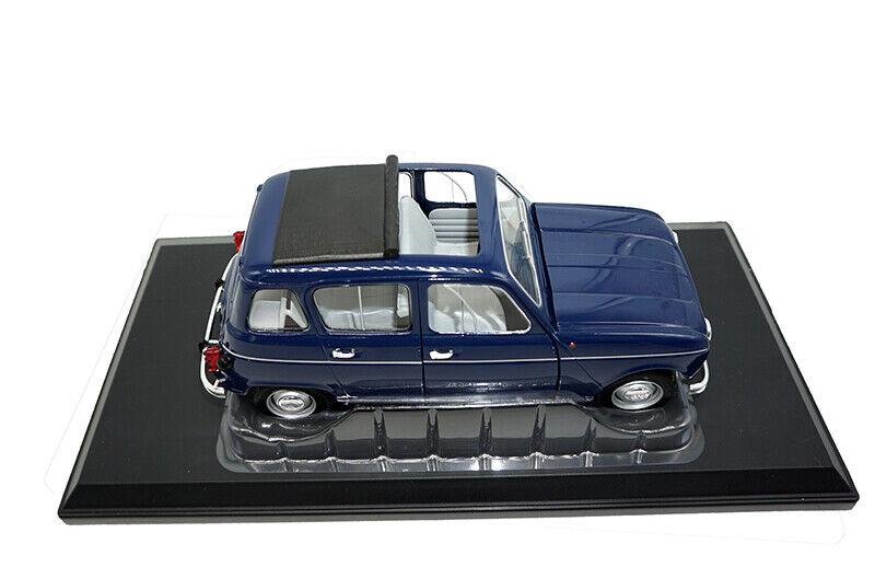 Per COLLEZIONISTI 1/18 DIECAST METAL Norev UV1 RENAULT 4 1965 Copenhague Blu modello di auto
