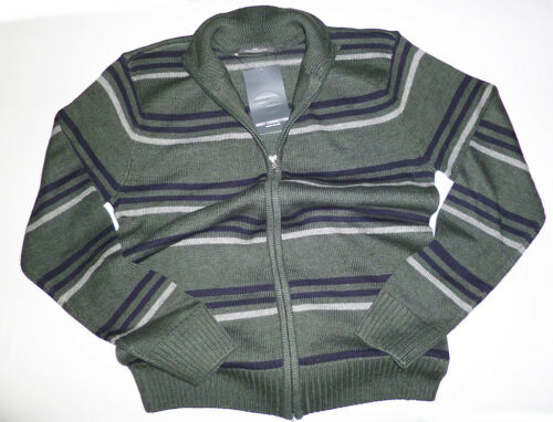 Uomo-Cardigan Gray Connection Verde a Strisce Tg XS