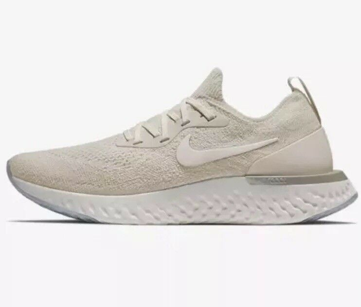 Nike Epic React Flyknit - Women SZ 11.5= Mens Sz 10 Sail Off Light Cream Lemon