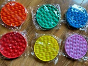 Circle Fidget Bubble Popper Stress Relief Squeezable Sensory Pocket Money Toy