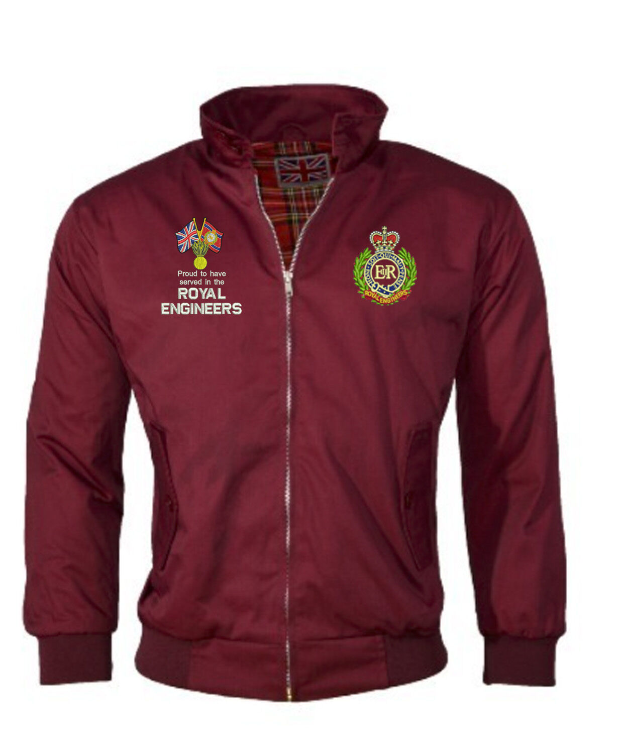 Harrington Jacket - Embroidered Royal Engineers/Proud to have Served/Ubique