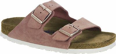 Birkenstock Arizona Rose Veloursleder Weichbettung Damen Sandale Weite normal | eBay