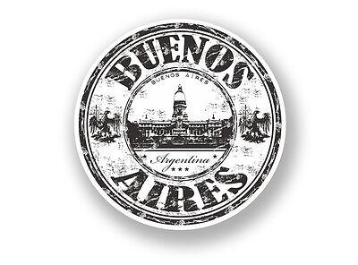 2 X Buenos Aires Vinyl Sticker Travel Luggage Argentina #7085 Elegant In Geur
