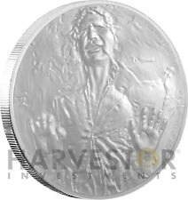 2016 SILVER STAR WARS CLASSIC COIN - HAN SOLO - FROZEN IN CARBONITE W/OGP COA