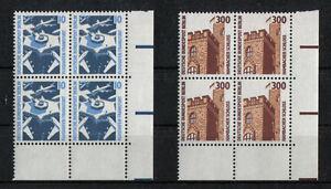 Berlin-798-799-postfrisch-Eckrand-Viererblock-Ecke-4-Sehenswuerdigkeiten-VB-SWK