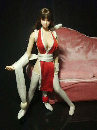 """NEW 1:6th Red Clothing of Mai Shiranui SET For 12/"""" PH Female Big Bust Doll"""