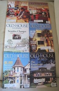 Old House Journal Back Issues Magazines Lot of 6 Entire Year 1995 DIY Remodeling