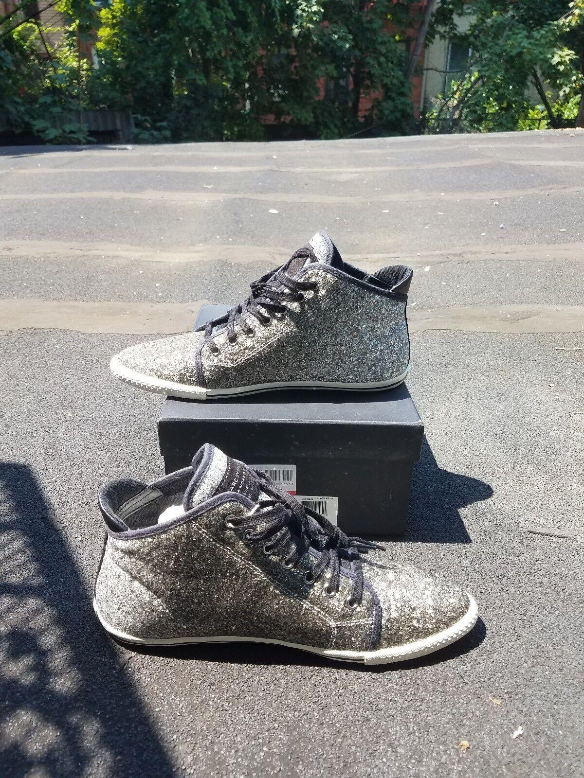 Marc By Marc Jacobs Jacobs Jacobs Glitter Canvas Women shoe, Size(EU)41, color Black Brand new 441c1d