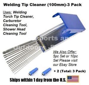 TIP CLEANER-100mm for OXYGEN//ACETYLENE for WELDING TIPS-5 PACK