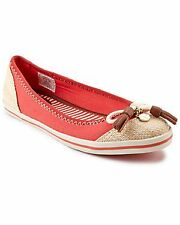 BRAND NEW WITH BOX SEBAGO FAIRWAY BALLET RED SKIMMER SANDALS SHOES 6.5 / 37 SALE