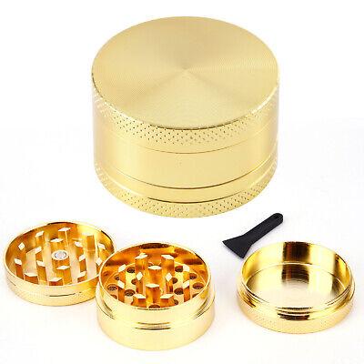 Ø40mm Gold Grinder Crusher Feinsieb Aluminium Kräutermühle mit Sieb 3tlg