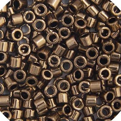 Delica 8//0 RD Gunmetal