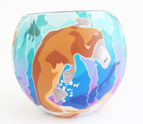 Platypus Glowing Glass Tea-light Candle Holder