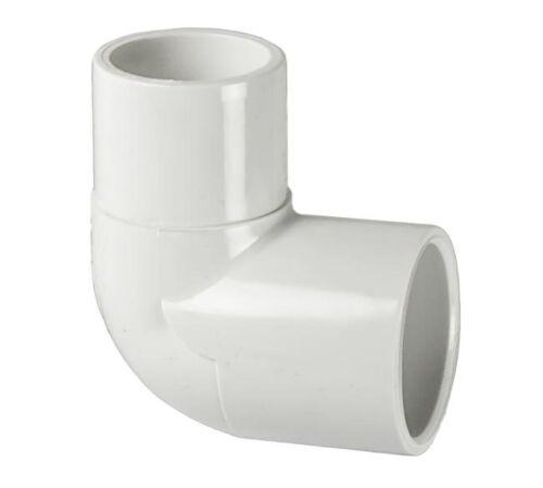 PVC 90 Degree Street Elbow Fitting 1-1//2-Inch Socket x Spigot