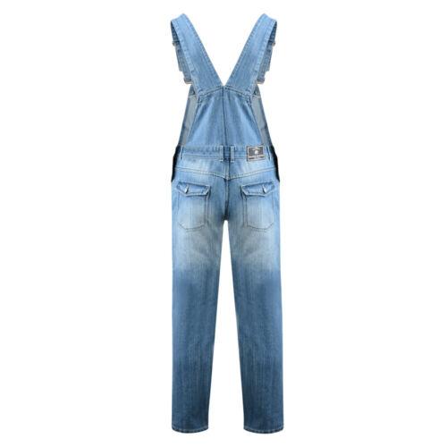 Grande Taille pour Hommes Jeans Coton Jusqu/'À 178cm Mode Kam Salopette
