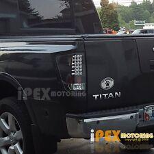 For 2004-2014 Nissan Titan ULTRA Bright Full LED Black Tail Lights Brake Lamps