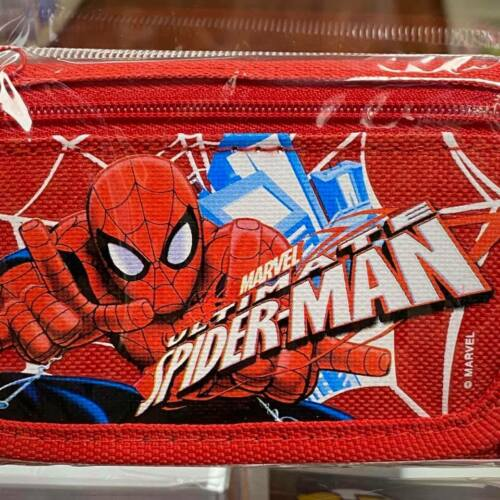 Red Marvel Spiderman Ultimate Authentic Licensed Trifold Children Wallet