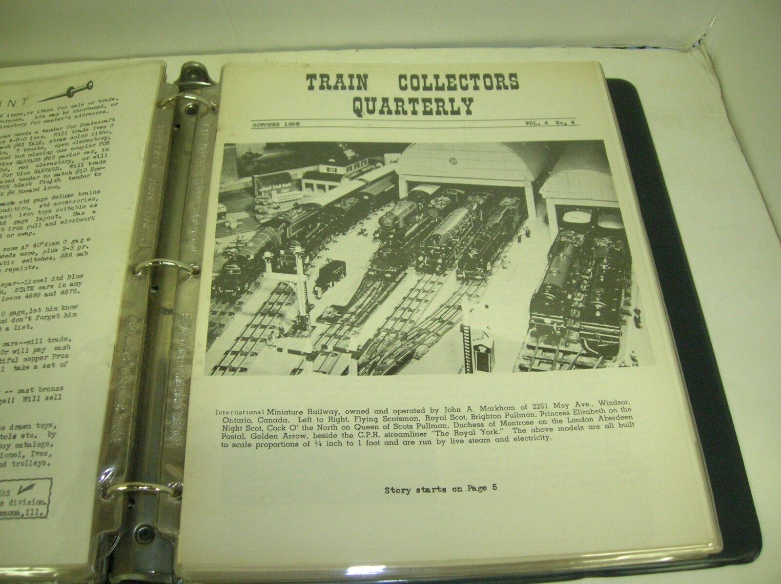 Cocheta de noticias trimestral de Coleccionistas de tren octubre 1958 Vol. 4 Nº 4-que ofrece