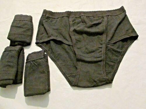 Ladies 4 Pack of  Black Control briefs size 12