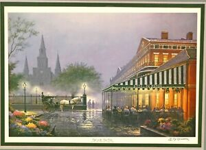 Cafe-In-The-Vieux-Carre-in-New-Orleans-framed-Americana-print-by-James-Hussey