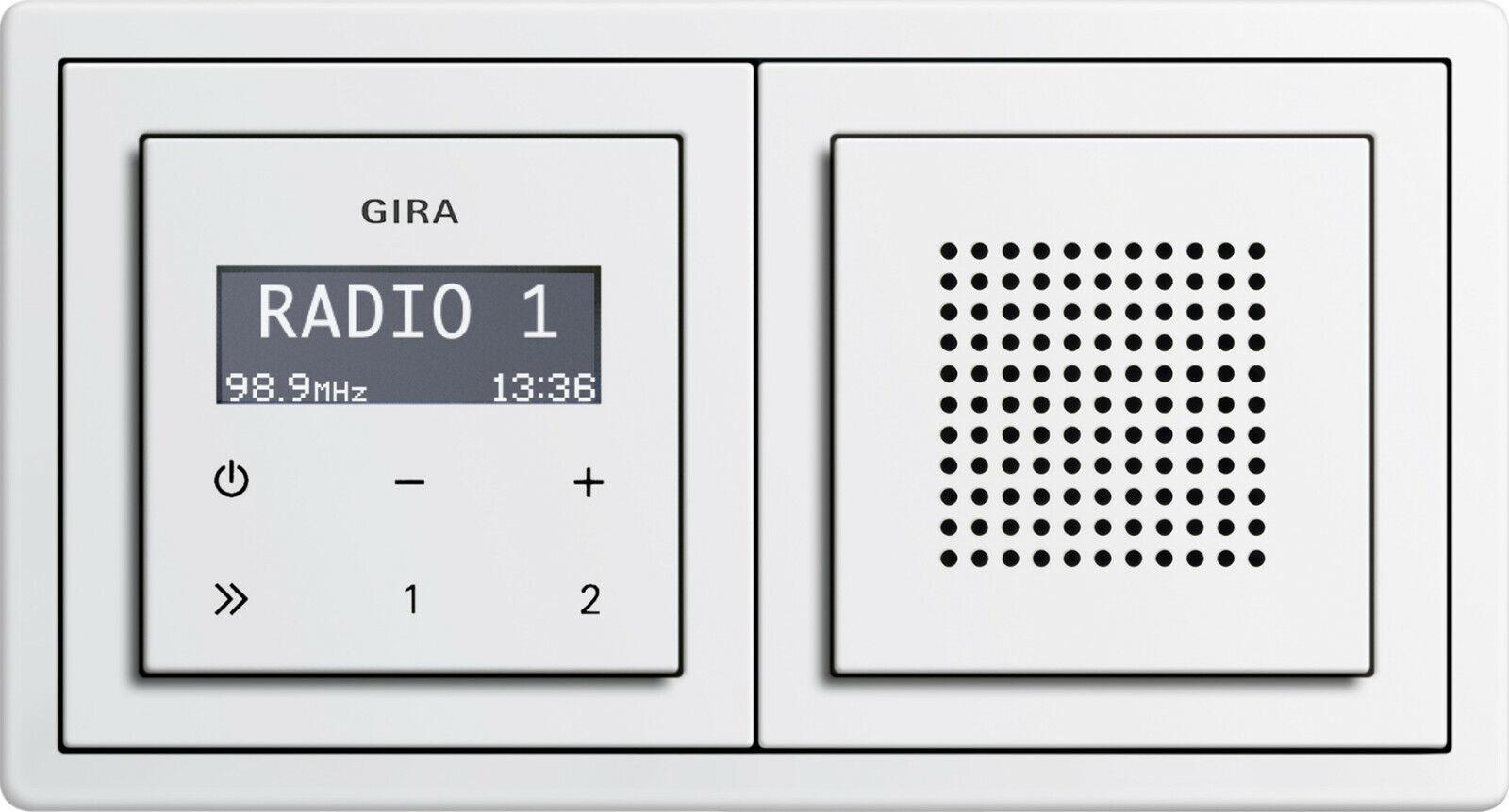 Gira RDS Unterputz Radio E2 mit Lautsprecher und Rahmen | Schöne Farbe