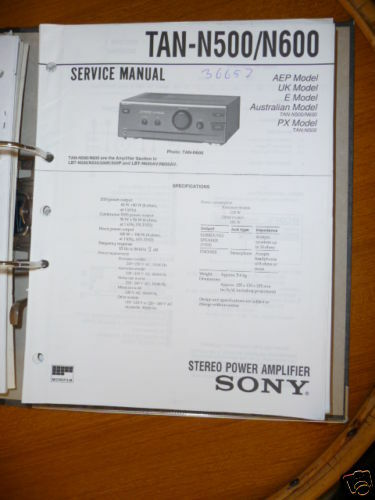 Service Manual For Sony Tan Tan
