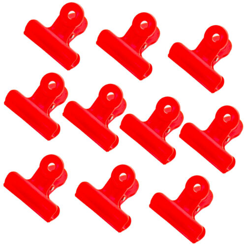 Bulldog Clips Clamps Lovely for Paper Files 10 Pieces 1.9 inch 4 Fresh Color