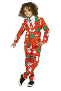 Christmas-Boy-Christmas-Suit-Children-Kid-039-s-Suit-Opposuit-Slimline-Premium