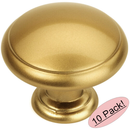 *10 Pack* Cosmas Cabinet Hardware Gold Champagne Round Knobs #5422GC