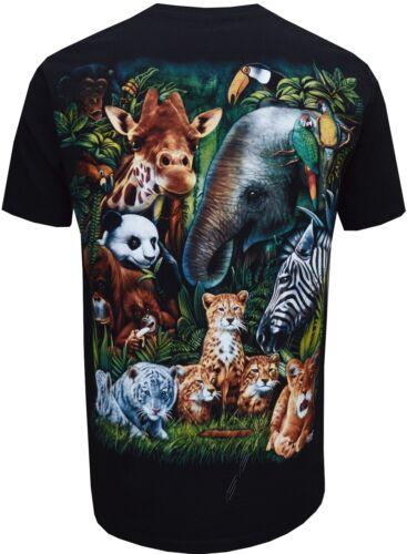 Nouveau Lion Tigre éléphant Girafe Mignon Jungle Animaux T Shirt S-XL par Wild