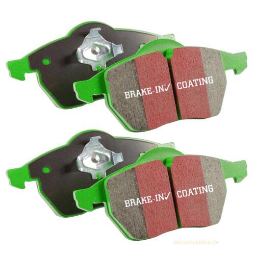 EBC greenstuff balatas dp2605//2 zapatas eje delantero frenos pavimento Brakes